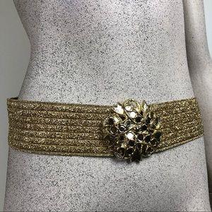 Vintage Gold Medallion Elastic Belt